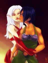 Ziya and Lilith by Lojanic