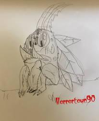 Saber toothy moth