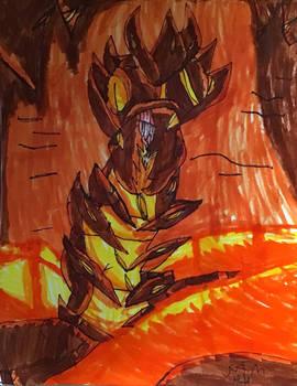 Sketchbook tour , lava centipede