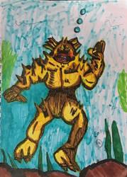 Comic art 1# puffersaurus