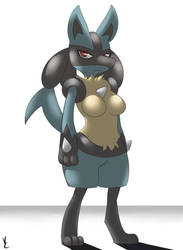A Boobed Lucario Appeared by Virate-Chip