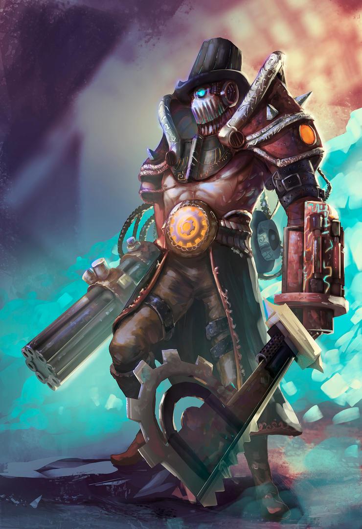 Classy Steampunk Warrior by Harelf-L