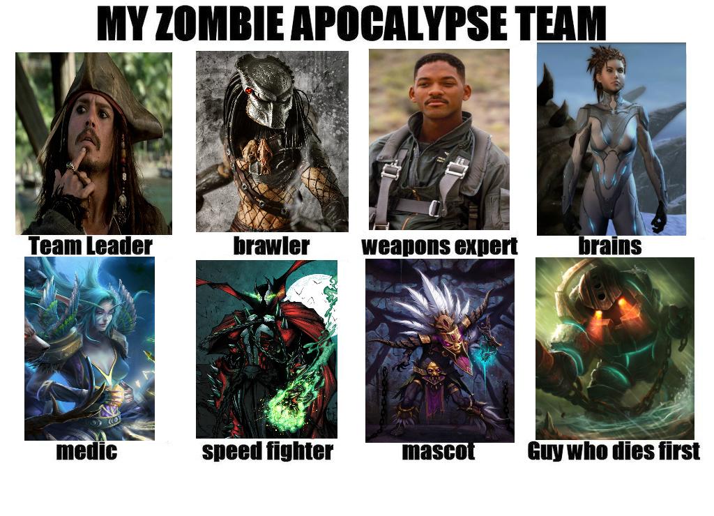 My Zombie Apocalypse Team by Wytchdocta