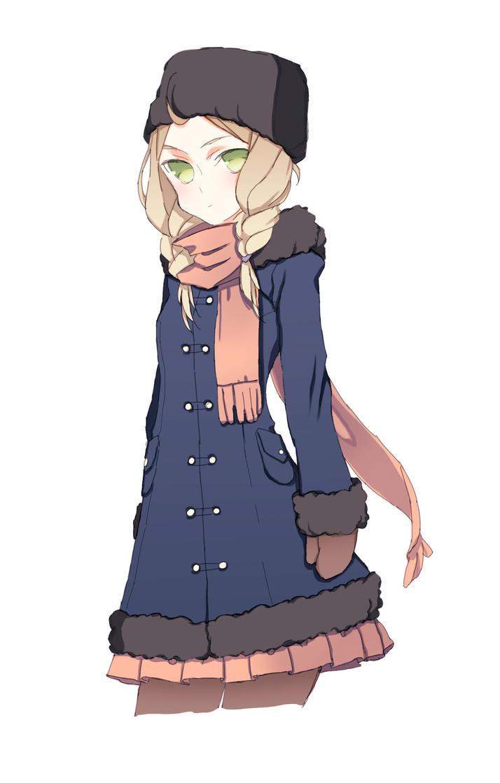 julia in winter clothing by xwafflebunny by ffideonn on