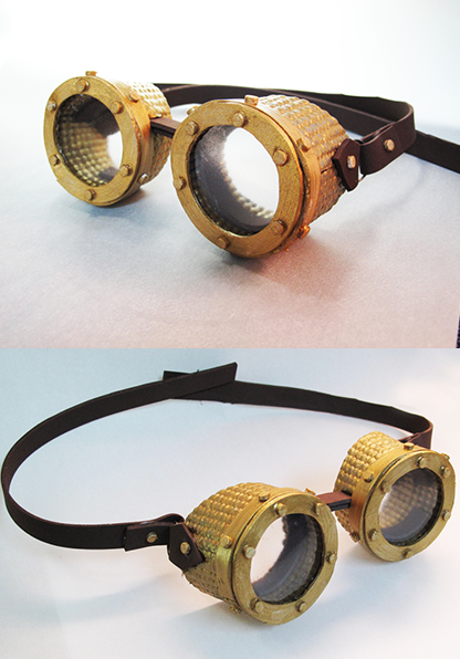 Steampunk goggles by tripperfunster