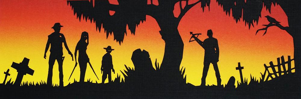 Walking Dead Paper Cut by tripperfunster