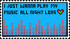 Play My Music Stamp by ItsCrazyConnor