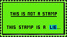 This Is Not A Stamp by ItsCrazyConnor