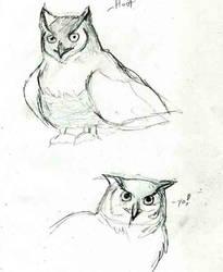 Owls make me happy by MythicMeztli