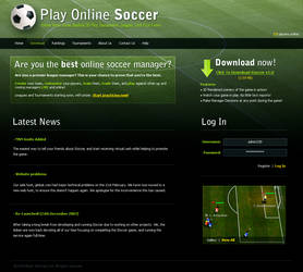 Online Soccer Website