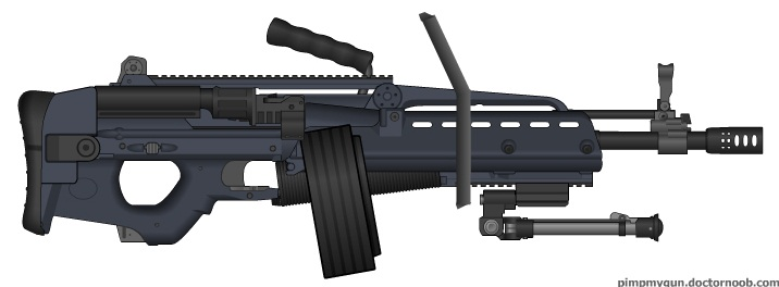Light Machine Gun Saw M123 SAW by SrSSGTSp0rk