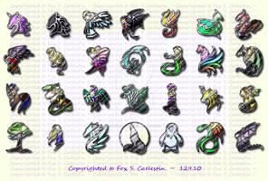 Mythological creatures pins