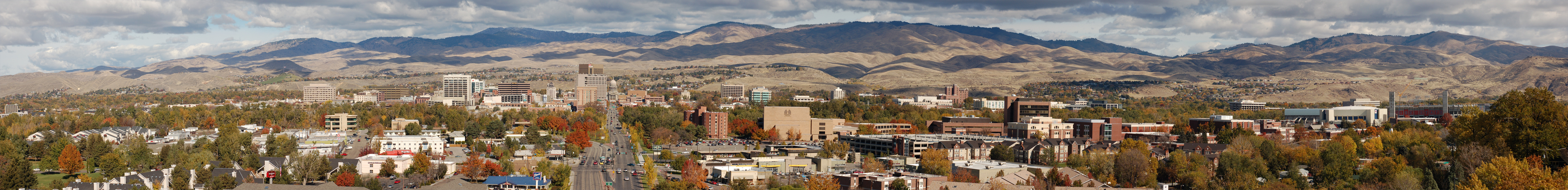 Downtown Boise in Fall by eRality