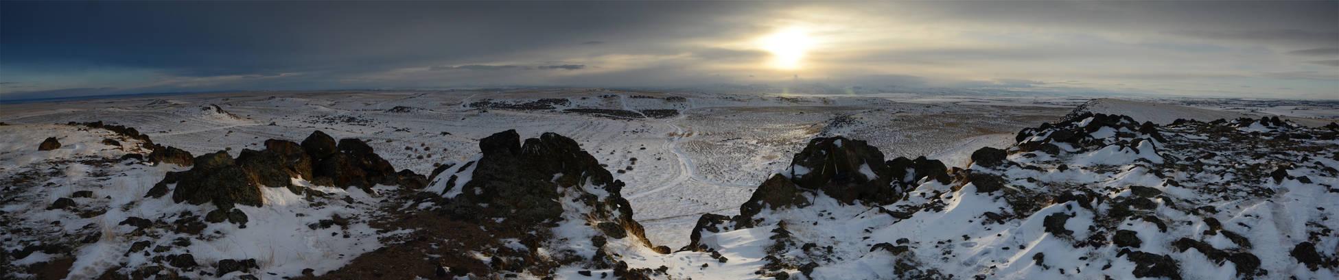 Kuna Butte Snow 2013-01-11