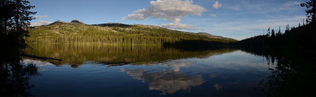 Upper Payette Lake Sunset by eRality