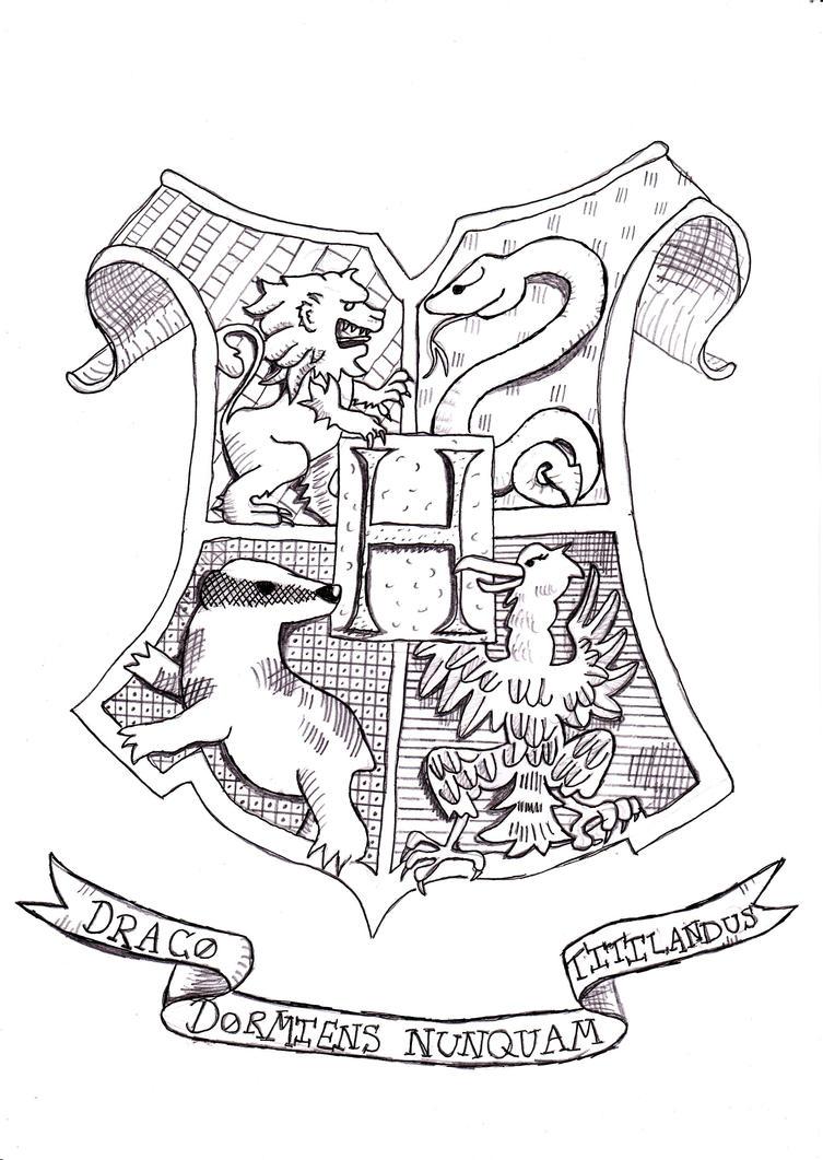 Hogwarts Crest By Minidragonhooha On DeviantArt