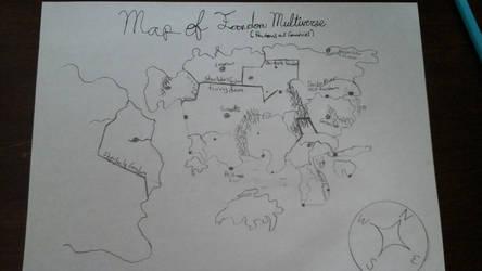 Map of the Fandom Multiverse (Work in Progress) by Dragonlover2170