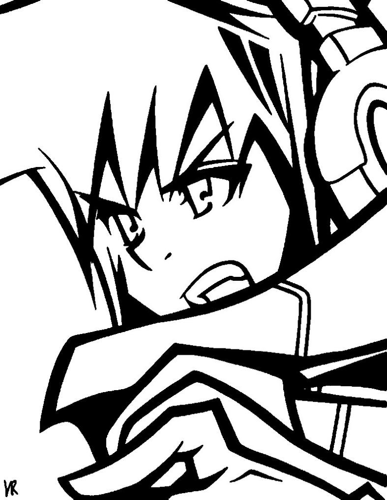 Neku Sakuraba Line Art by RunningFromTime