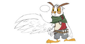 Kowl, the owl wizard character study by diegodorn