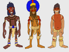 Brazilian Indigenous - I,II and III by diegodorn