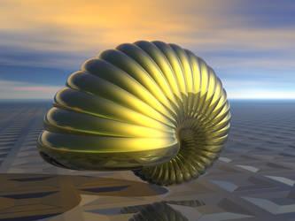 Golden Snail Shell by trav1085