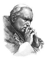 Engraving - the Pope by Piotr-Naszarkowski