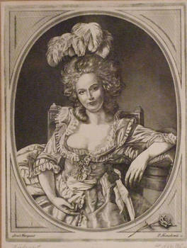 Engraving - Portrait of a lady