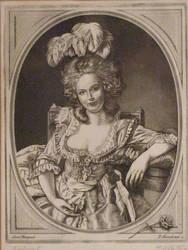 Engraving - Portrait of a lady by Piotr-Naszarkowski