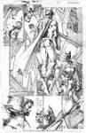 Superman 208 P12 Pencils (By Jim Lee, sample page)