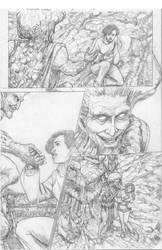 Mushroom Murders #5 P15 pencils by (Robert Keough)