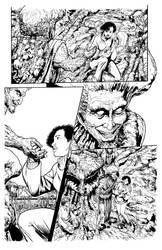 Mushroom Murders #5 P15 Inks By Jeff Coney