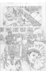 Bullet Time #5 Page 8 pencils by Robert Keough