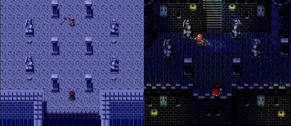 Atis's Gaze - Before/After RPG Maker Parallax Map by KenKrath on