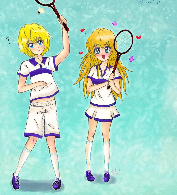Anime Girl Playing Badminton Kanamakia Kurapika Colored By