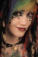 Striped make up by CupCakeMonsterCrafts