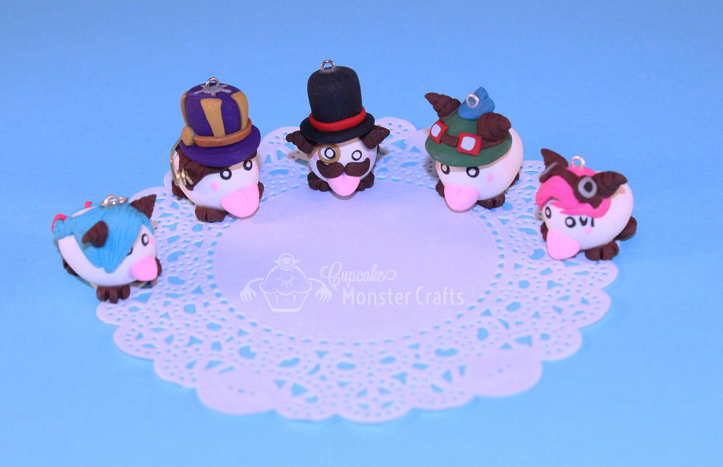 Hand made Polymer Clay League of Legends Poros by CupCakeMonsterCrafts
