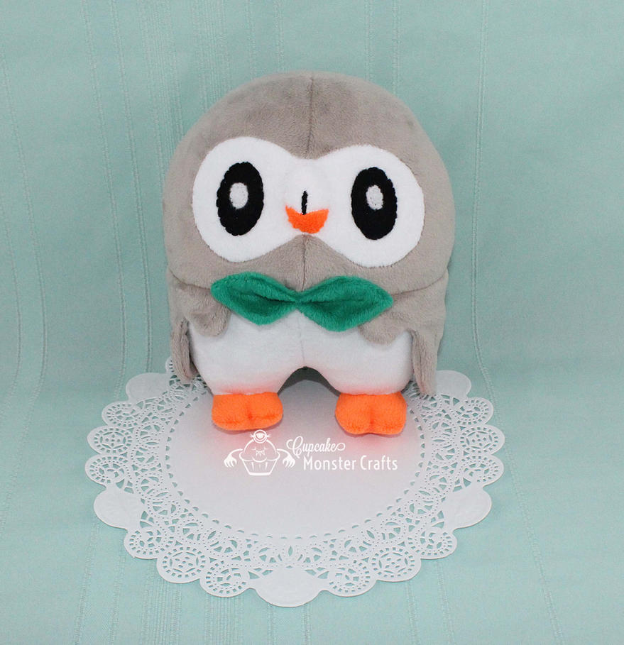 Hand made Rowlet Plushie by CupCakeMonsterCrafts