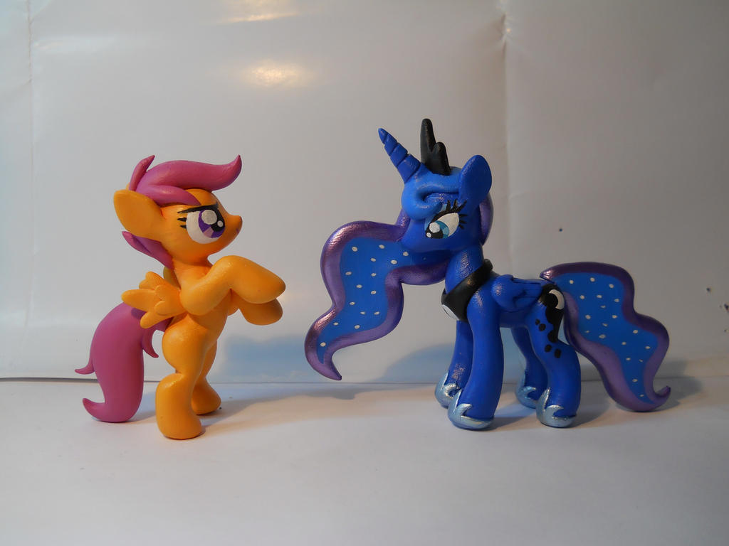 Non-Shiny Scootaloo and Luna! (on ebay!) by EarthenPony