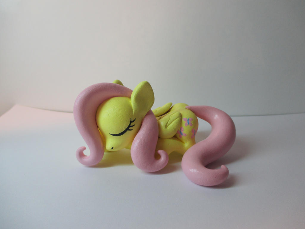 Sleeping Fluttershy for sale! by EarthenPony