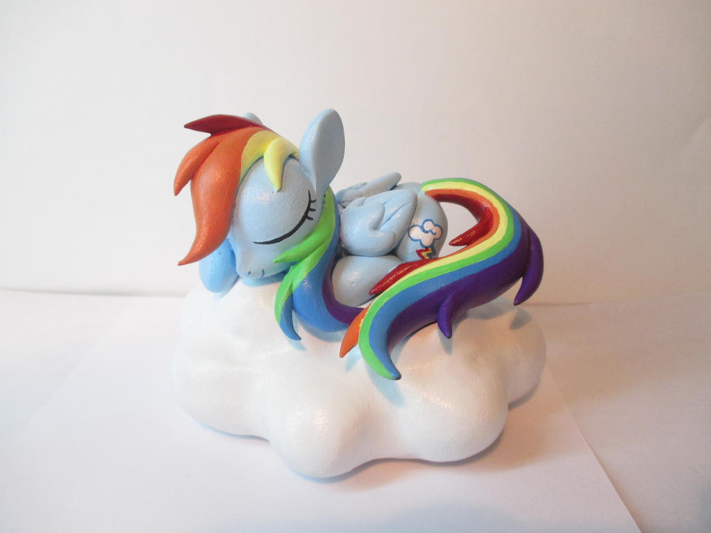 Sleeping Dashie on a Cloud! by EarthenPony