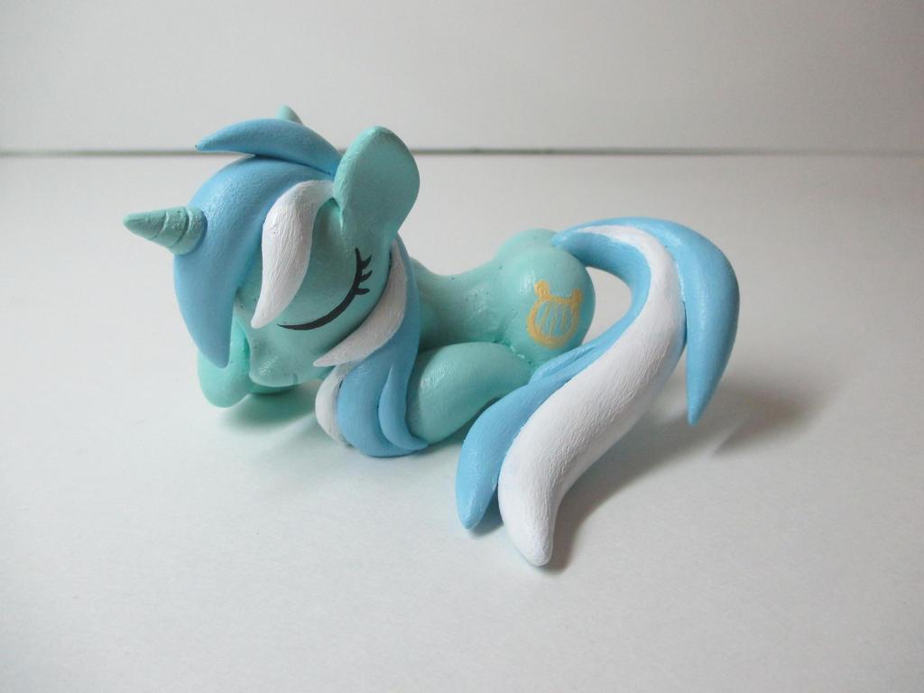 Sleeping Lyra Heartstrings Sculpture by EarthenPony