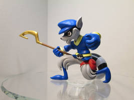 Sly Cooper Sculpture by EarthenPony