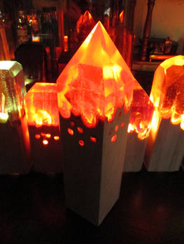 Pyramid Fire Lamp + Just  Launched a Kickstarter!