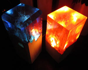 I call these lamps, Fire and Cold Stuff