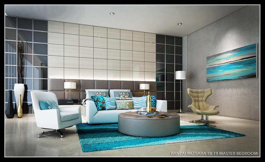 turquoise bed room 1 by satriobajuhitam
