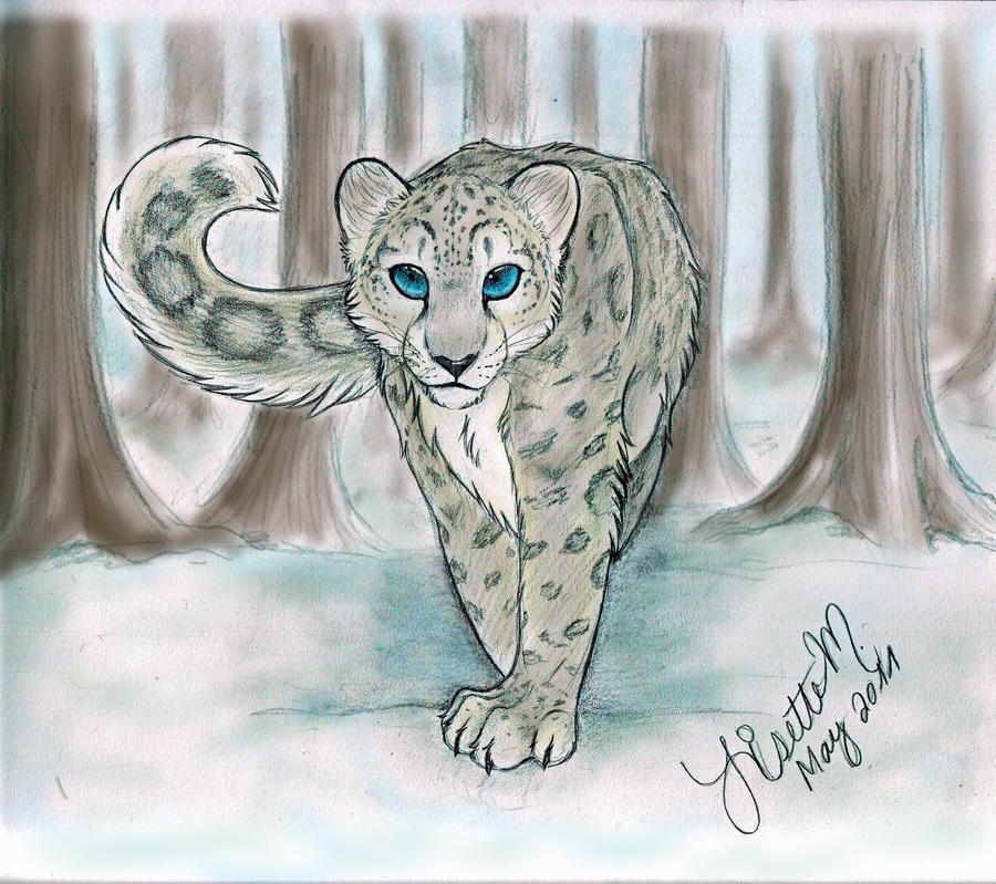 Snow Leopard Colored By Lisette M On Deviantart