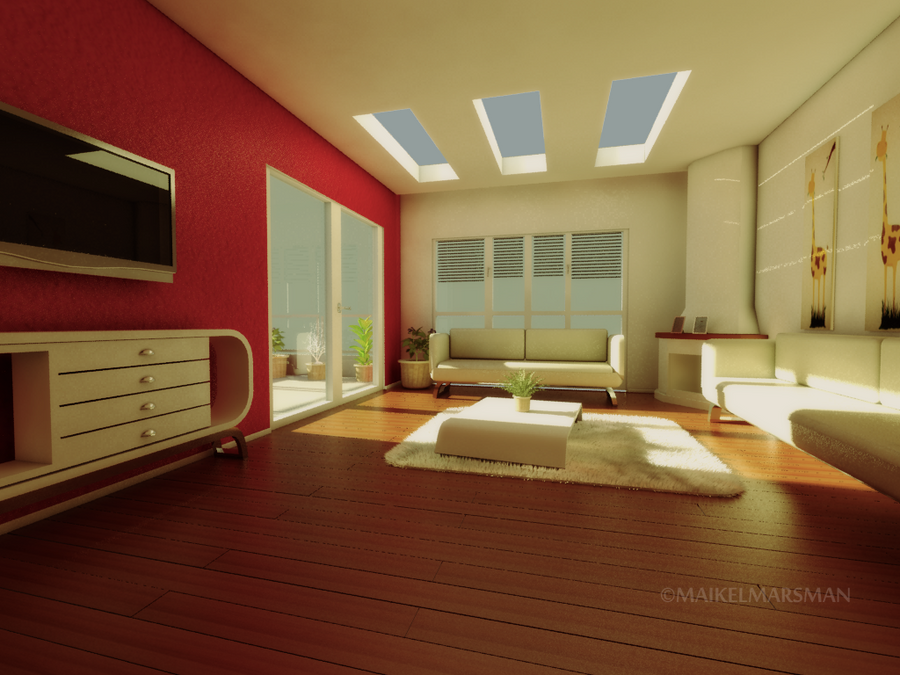 Work in process 3d room by marz0erd on deviantart 3d room
