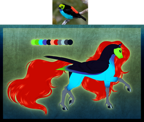MLP - Paradise Tanager Pegasus Adoptable (CLOSED) by SilverWolf866