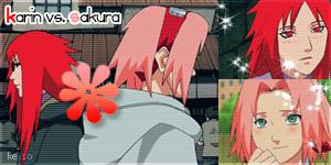 Karin vs. Sakura Banner by KelseaLou