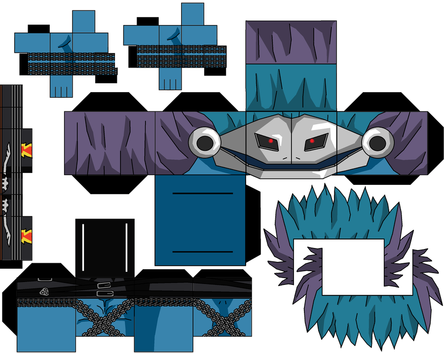 blue deathmeramon by hollowkingking